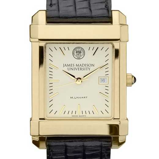 615789960126: James Madison Men's Gold Quad w/ Leather Strap