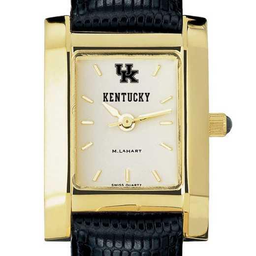 615789973546: Kentucky Women's Gold Quad w/ Leather Strap