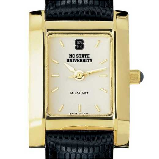 615789515715: NC State Women's Gold Quad w/ Leather Strap