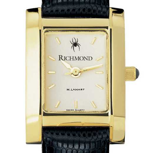 615789161004: univ of Richmond Women's Gold Quad w/ Leather Strap
