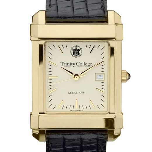 615789030799: Trinity College Men's Gold Quad w/ Leather Strap