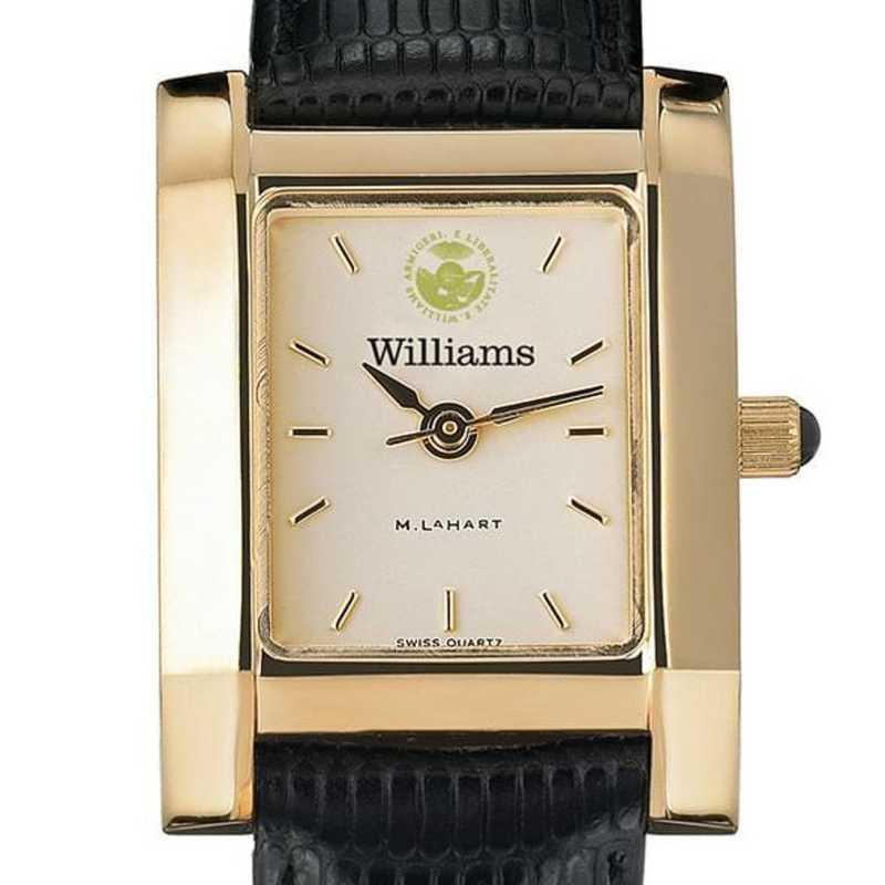 615789966197: Williams College Women's Gold Quad w/ leather strap