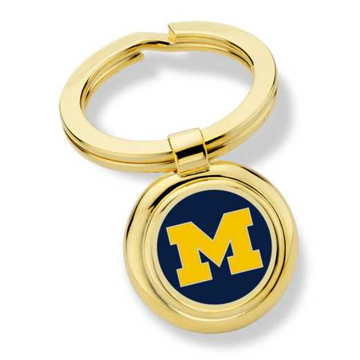 615789235460: University of Michigan Enamel Key Ring by M.LaHart & Co.