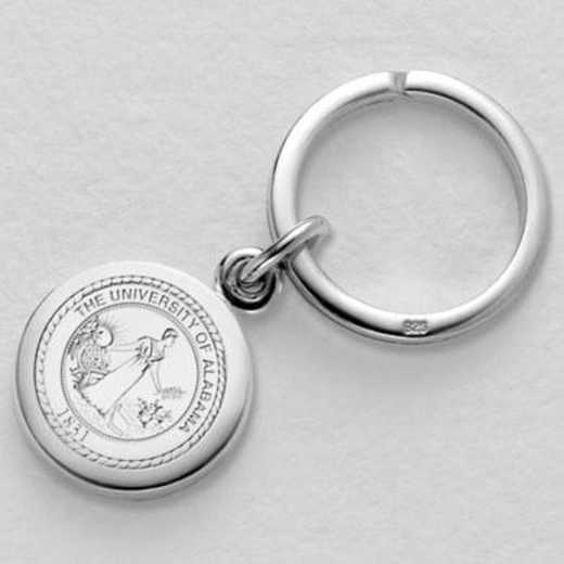 615789424000: Alabama Sterling Silver Insignia Key Ring by M.LaHart & Co.