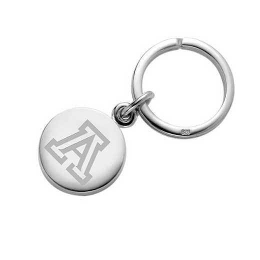 615789614760: University of Arizona Sterling Silver Insignia Key Ring