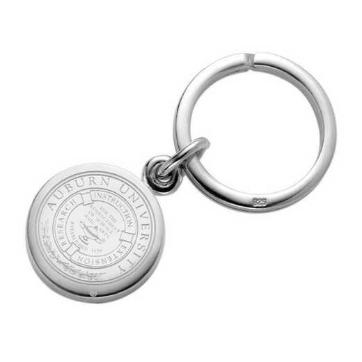 615789590415: Auburn University Sterling Silver Insignia Key Ring