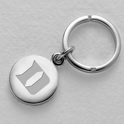 615789359012: Duke Sterling Silver Insignia Key Ring
