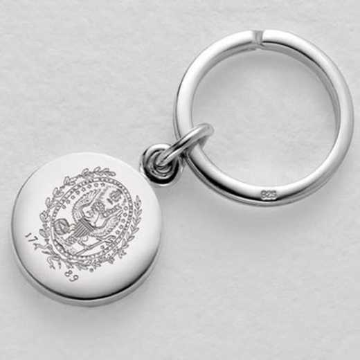 615789024668: Georgetown Sterling Silver Insignia Key Ring