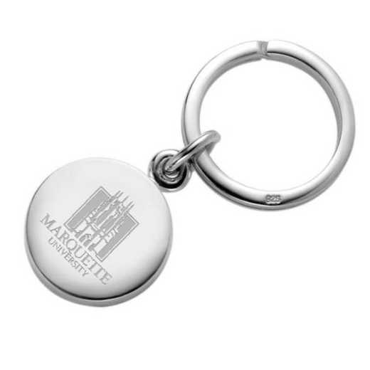 615789864349: Marquette Sterling Silver Insignia Key Ring