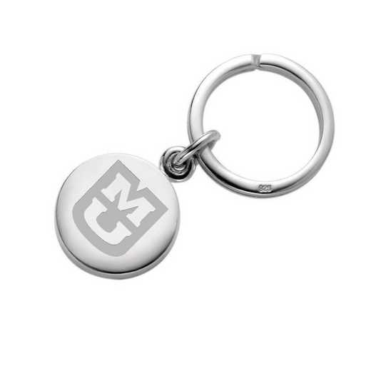 615789962533: University of Missouri Sterling Silver Insignia Key Ring