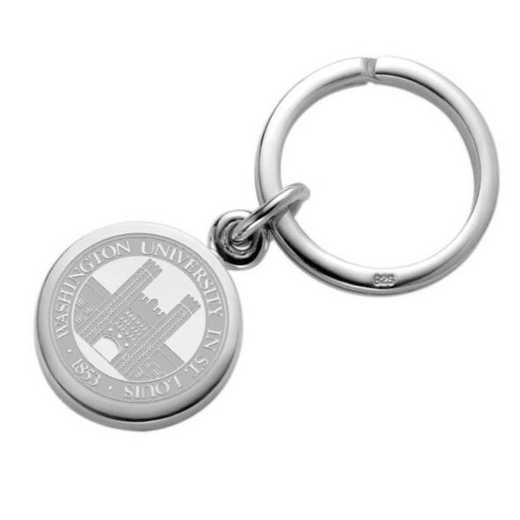 615789312994: WUSTL Sterling Silver Insignia Key Ring