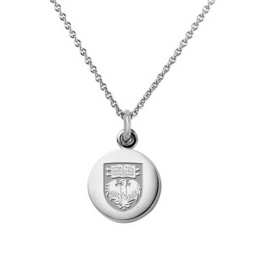 615789517184: University of Chicago Necklace with Charm in SS