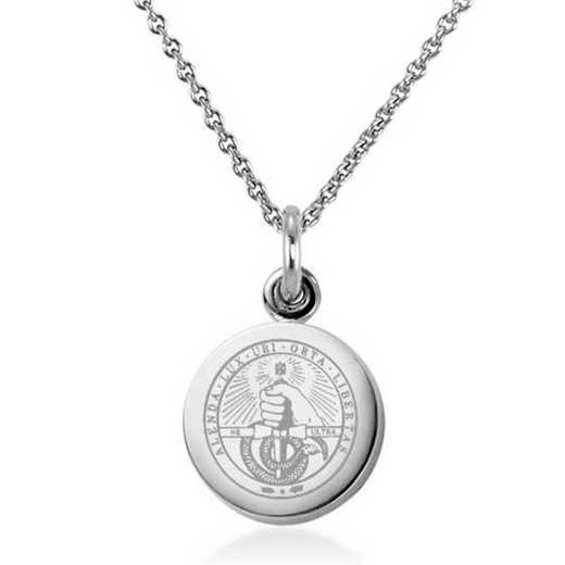 615789652083: Davidson College Necklace with Charm in SS