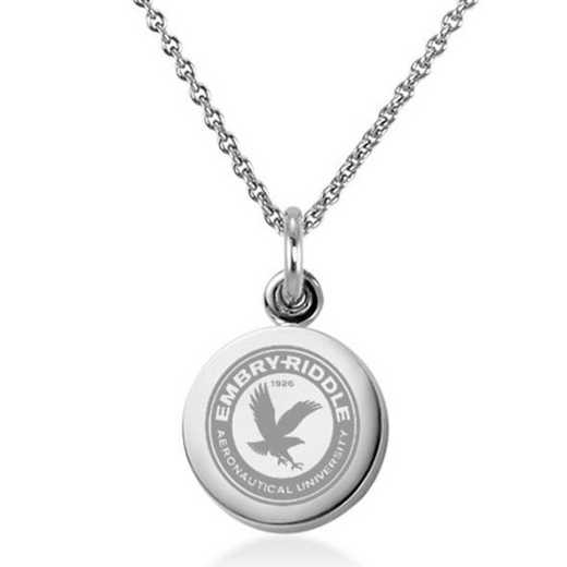 615789305880: Embry-Riddle Necklace with Charm in SS