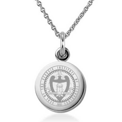 615789818069: Georgia Tech Necklace with Charm in SS