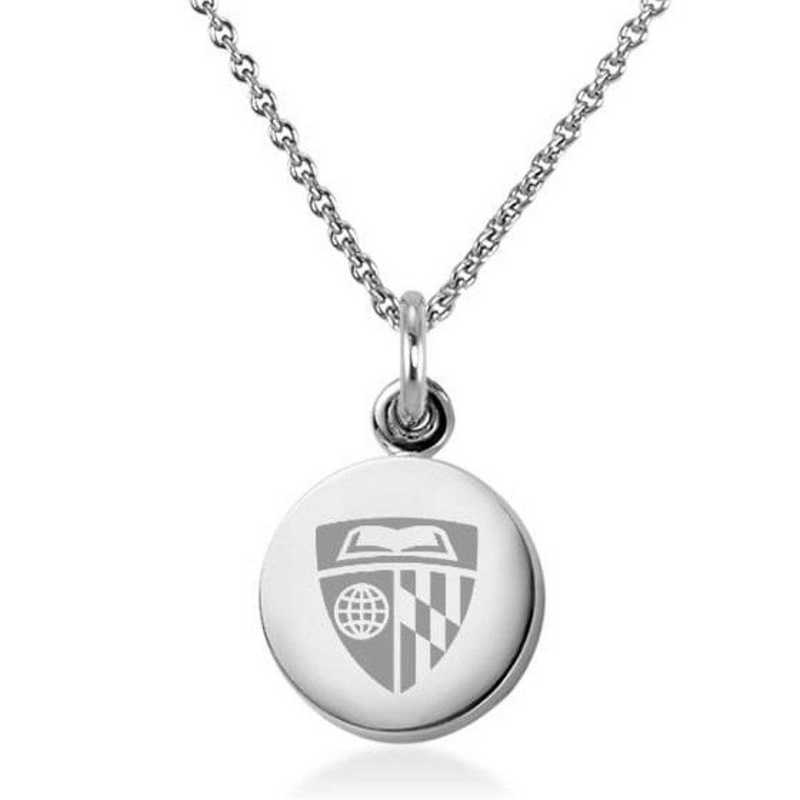 615789870272: Johns Hopkins University Necklace with Charm in SS