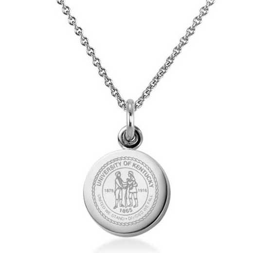 615789386223: University of Kentucky Necklace with Charm in SS