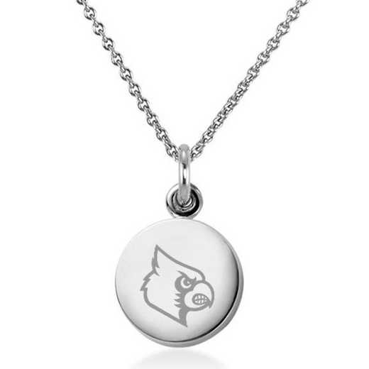 615789071907: University of Louisville Necklace with Charm in SS