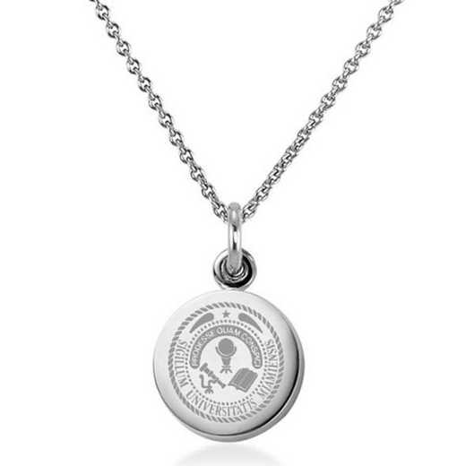 615789284505: Miami University Necklace with Charm in SS