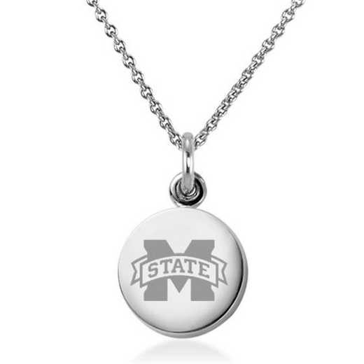 615789747543: Mississippi State Necklace with Charm in SS