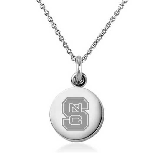 615789208242: North Carolina State Necklace with Charm in SS