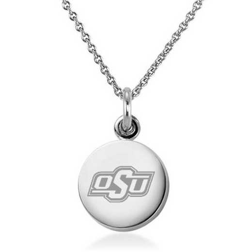 615789794608: Oklahoma State University Necklace with Charm in SS