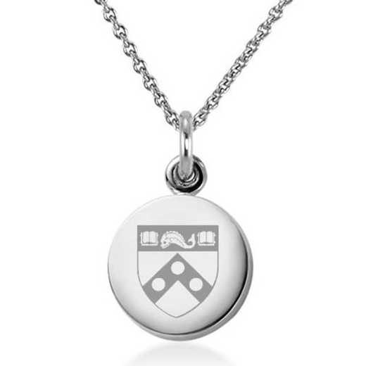 615789498483: University of Pennsylvania Necklace with Charm in SS