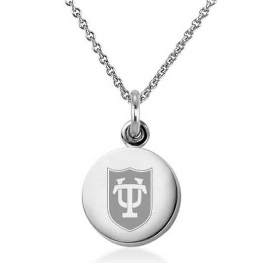 615789065104: Tulane University Necklace with Charm in SS