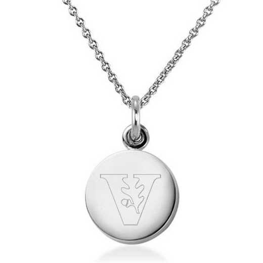 615789269403: Vanderbilt University Necklace with Charm in SS