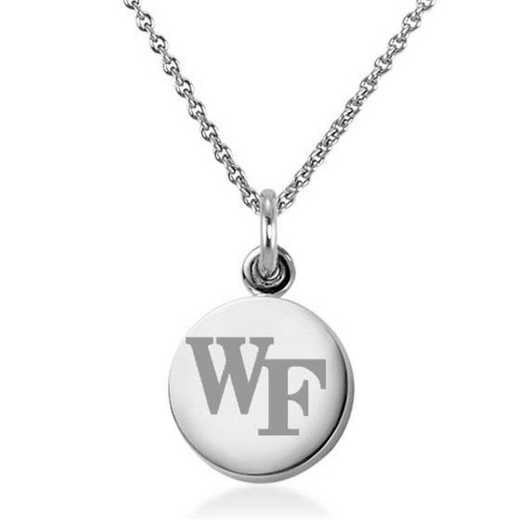 615789490548: Wake Forest University Necklace with Charm in SS