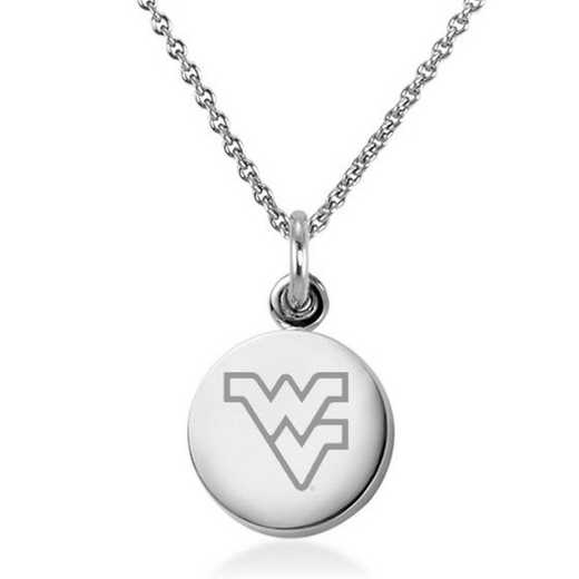 615789837718: West Virginia University Necklace with Charm in SS