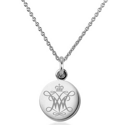 615789983750: College of William & Mary Necklace with Charm in SS
