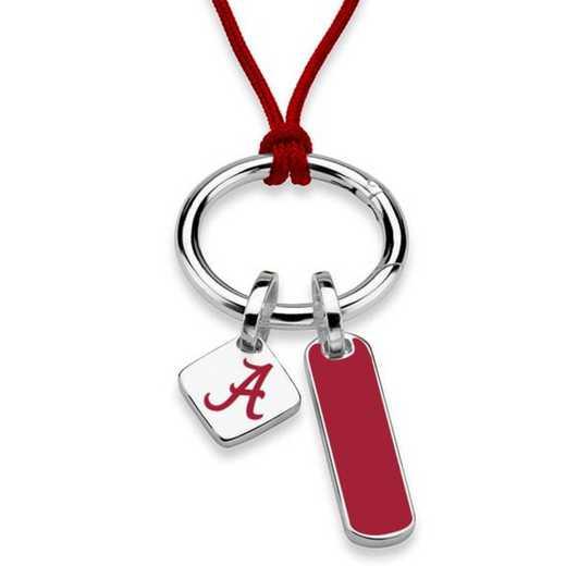 615789878117: Alabama Silk Necklace W/ Enamel Charm & SS Tag