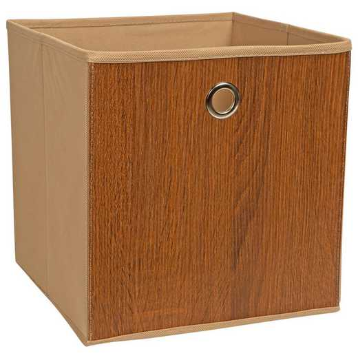 27205-NATURAL: KEN Faux Wood Storage Cube in Natural