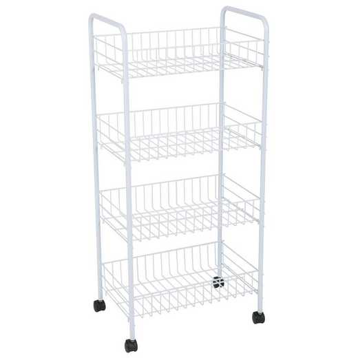 4072: KEN 4 Tier Rolling Storage Cart