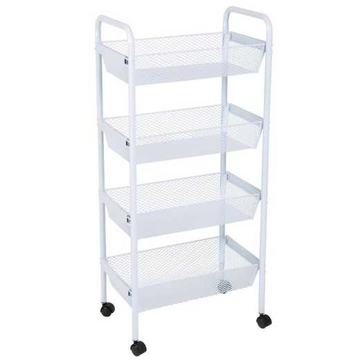 4084: KEN Deluxe 4 Tier Rolling Storage Cart