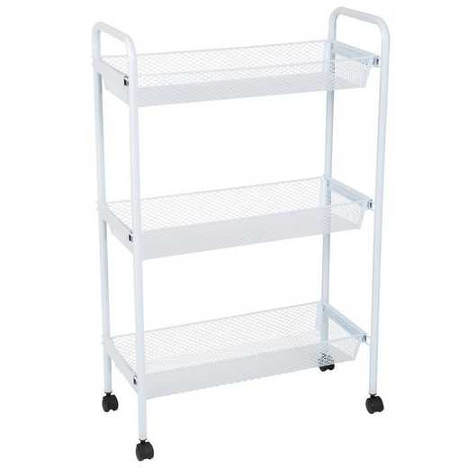 4085: KEN Deluxe 3 Tier Rolling Storage Cart