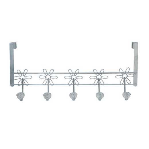 4700-CHR: KEN Crystal Daisy Over the Door Hook Rack