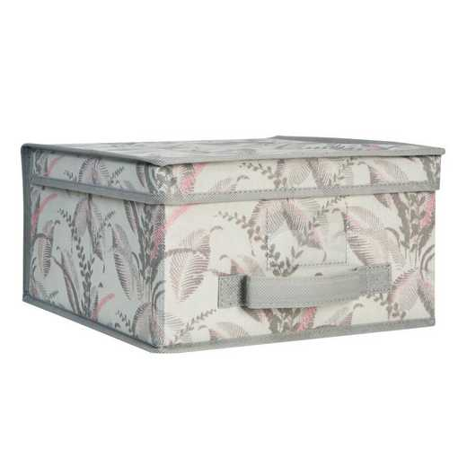 LA-95700: KEN MEDCollapsible Storage Box in Palm Leaf