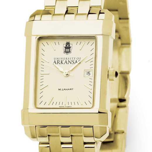 615789551959: University of Arkansas Men's Gold Quad W/ Bracelet
