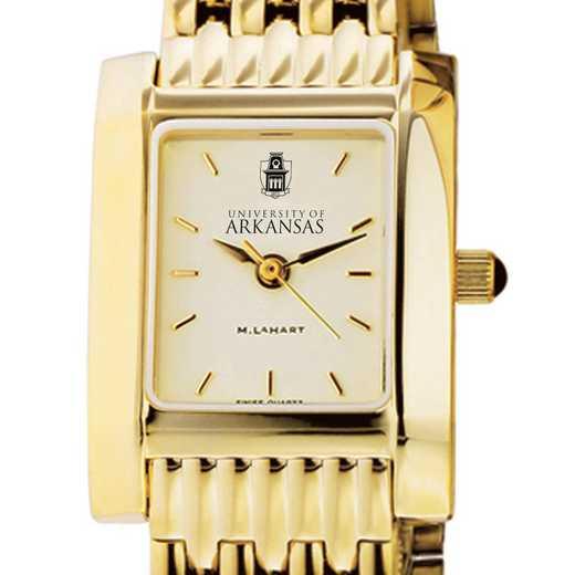 615789701675: University of Arkansas Women's Gold Quad W/ Bracelet