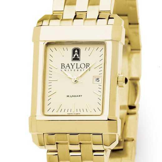 615789676386: Baylor Men's Gold Quad W/ Bracelet
