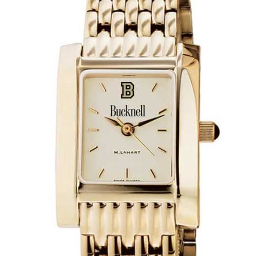 615789772378: Bucknell Women's Gold Quad W/ Bracelet