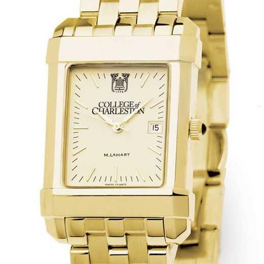 615789132363: College of Charleston Men's Gold Quad W/ Bracelet