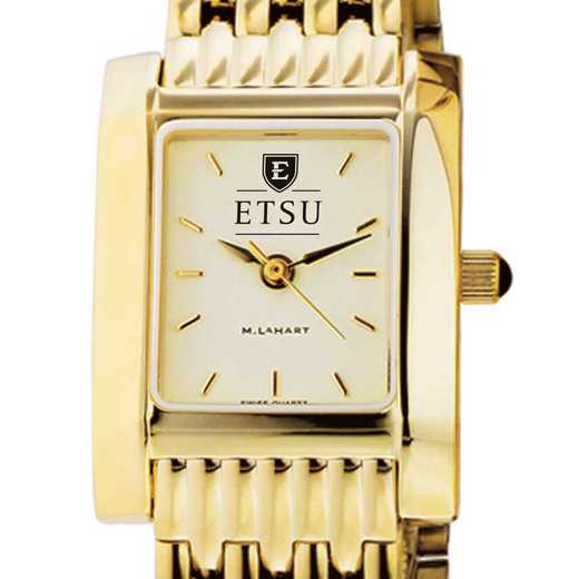 615789704263: East Tennessee ST University Women's Gold Quad W/ Bracelet