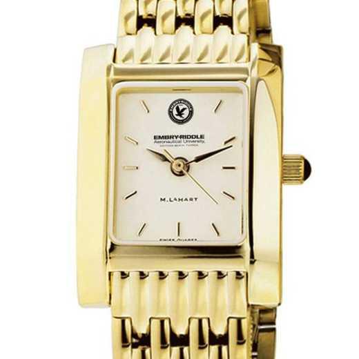 615789881377: Embry-Riddle Women's Gold Quad W/ Bracelet