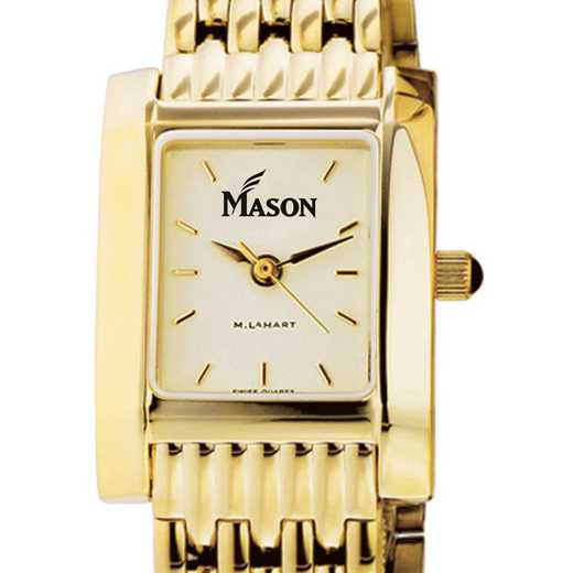 615789355106: George Mason University Women's Gold Quad W/ Bracelet
