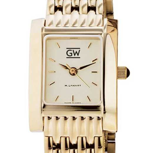 615789061106: George Washington Women's Gold Quad W/ Bracelet
