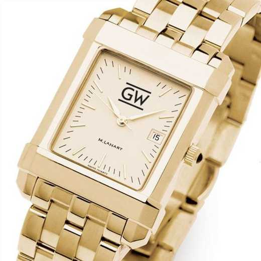 615789082590: George Washington Men's Gold Quad W/ Bracelet