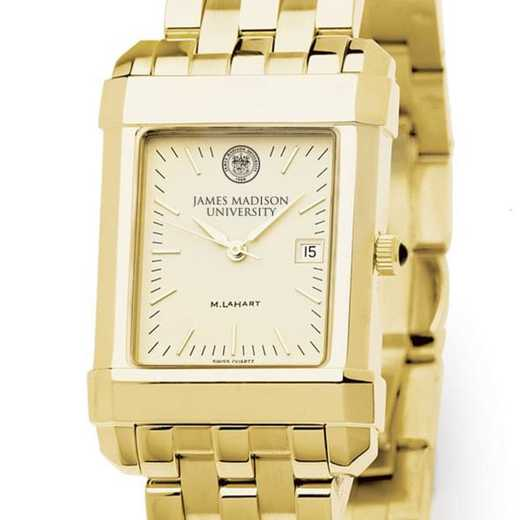 615789617600: James Madison Men's Gold Quad W/ Bracelet